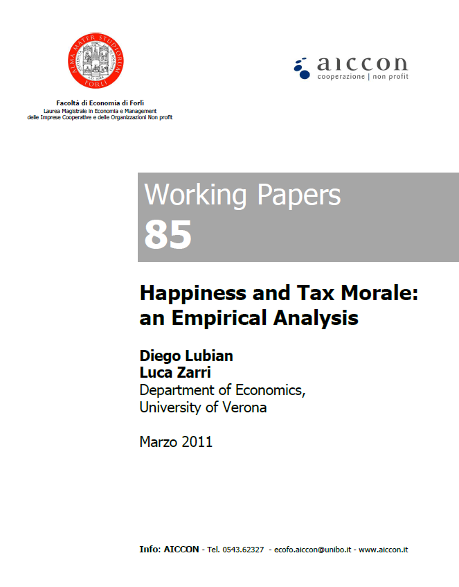 exploring tax morale In order to understand how the environment influences business owner/managers' attitudes towards tax morale, we build a theoretical model based on a neo.